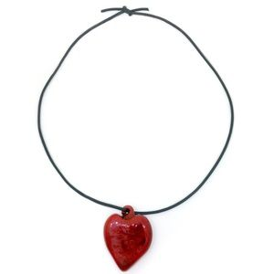 💗🎉LAST CHANCE 🎉 Necklace Heart Glass Pendant